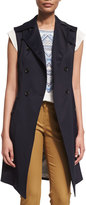 Veronica Beard SoCal Stretch Trench Vest, Navy