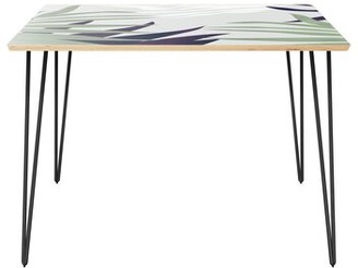 Wrought StudioTM Conerly Dining Table Wrought Studio Table Top Color: Natural, Table Base Color: Black