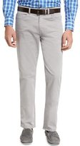 Peter Millar Five-Pocket Stretch Sateen Pants, Light Gray