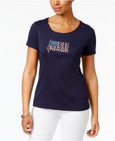 Karen Scott Petite Cotton Flag Graphic T-Shirt, Created for Macy's