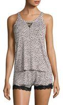 Betsey Johnson Patterned Camisole and Shorts Pajama Set
