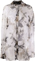 Gianfranco Ferre Pre Owned 1990s floral sheer shirt