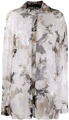 Gianfranco Ferré Pre Owned 1990s Floral Sheer Shirt
