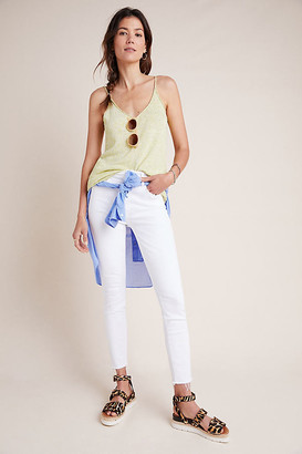 Mother The Looker High-Rise Skinny Ankle Jeans By in White Size 31