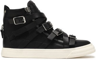 Giuseppe Zanotti London Strap-detailed Leather High-top Sneakers