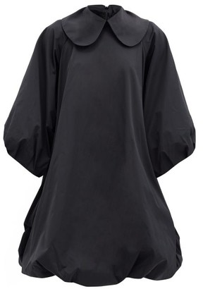 Simone Rocha Peter Pan-collar Taffeta Dress - Black