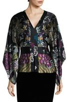 Josie Natori Kimono Sleeve Belted Top