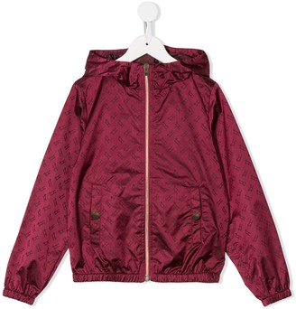 Herno Monogram Print Hooded Jacket
