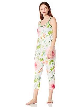 Selene Women's Sleeveless Straight Pajama Jumpsuit Lightweight Nightwear Romper XXL