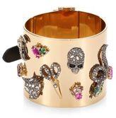 Alexis Bittar Crystal-Encrusted Charm Cuff Bracelet