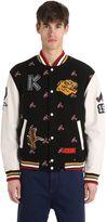 Kenzo Memento Wool Jacquard Varsity Jacket