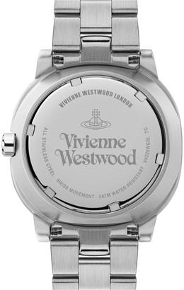 Vivienne Westwood Warm Grey and Rose Gold Dial Stainless Steel Bracelet Ladies Watch