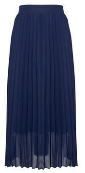 Dorothy Perkins Womens Navy Pleated Midi Skirt, Navy