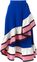 Emilio Pucci ruffled detail A-line skirt - women - Silk - 40
