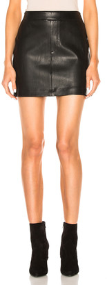 Helmut Lang Leather Skirt in Black | FWRD