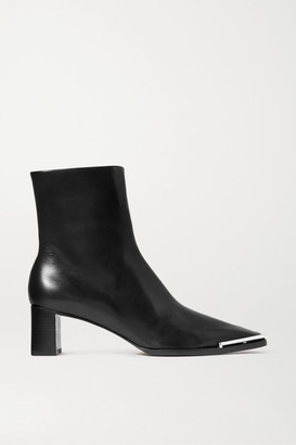 Alexander Wang Mascha Glossed-leather Ankle Boots - Black