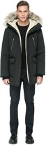 Soia & Kyo DERICK classic down jacket with sherpa-lined hood in black