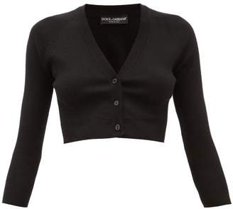 Dolce & Gabbana Cropped Cashmere-blend Cardigan - Womens - Black