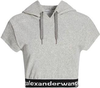 alexanderwang.t Stretch Corduroy Hooded T-Shirt