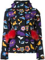 Fendi Wonders hooded jacket - women - Goat Fur/Sheep Skin/Shearling/Polyamide/Spandex/Elastane - 40
