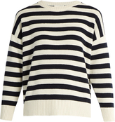 Saint Laurent Long-sleeved striped cashmere sweater