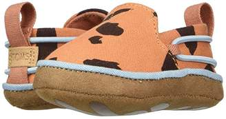 Toms Kids Lima (Infant/Toddler) (Coral Stone Age Animal Print) Kid's Shoes