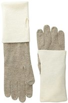 Sofia Cashmere Women's Turn-Back Color-Block Gloves