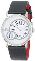 Marvin Women's M025.12.76.94 Origin Mother-Of-Pearl Dial Black Techno Satin Strap Watch