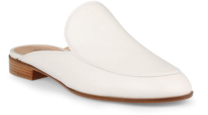 Gianvito Rossi Palau white leather loafer