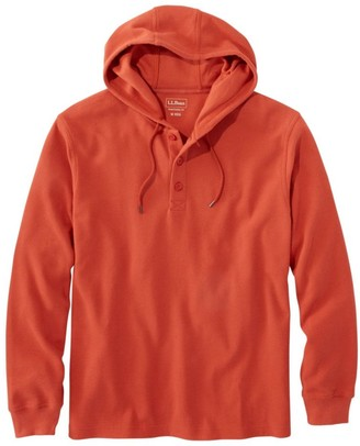 L.L. Bean Men's Unshrinkable Mini-Waffle Henley, Hoodie, Traditional Fit