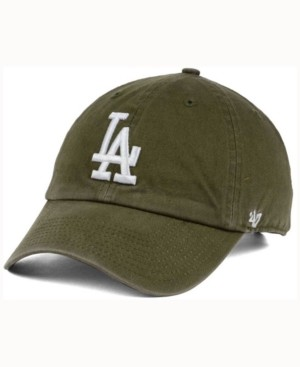 '47 Los Angeles Dodgers Olive White Clean Up Cap