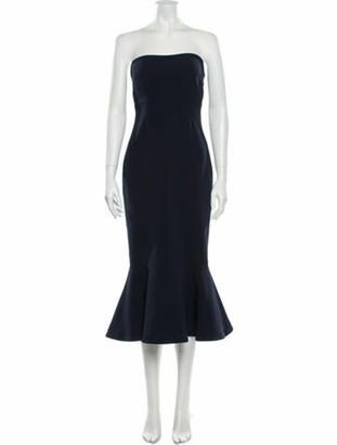 Cinq à Sept Strapless Knee-Length Dress Blue
