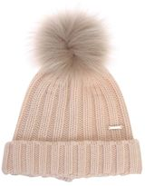 Woolrich Cashmere Hat With Fur Pompom