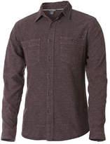 Royal Robbins Men's Bristol Long Sleeve Tweed Button Down - Petrified Oak Cotton Shirts