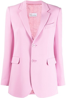 RED Valentino Single-Breasted Fitted Blazer