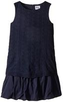 Armani Junior Navy Sleeveless Dress with Hearts Girl's Dress