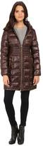 Via Spiga Hooded Packable Coat w/ Corset Waist