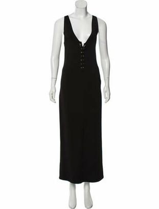 Balmain Sleeveless Maxi Dress Black