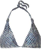 Vix Corales Bia Printed Triangle Bikini Top - Blue