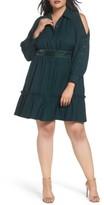 Eliza J Plus Size Women's Cold Shoulder Shirtdress