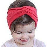 Coromose Baby Kids Girls Hairband Headband Hair Accessories Toddler Head Wrap (Red)