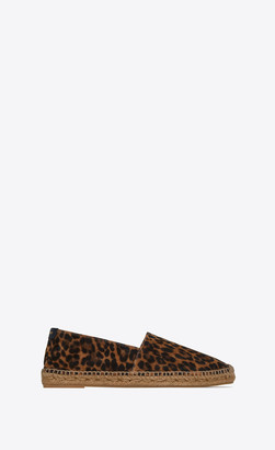 Saint Laurent Espadrilles In Leopard-print Suede Natural 10