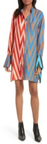 Diane von Furstenberg Women's Bell Sleeve Silk Shirtdress