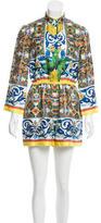 Dolce & Gabbana Silk Majolica Print Romper