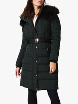 Thumbnail for your product : Phase Eight Brisa Side Stitch Long Puffer Jacket, Forest Green