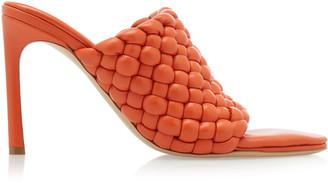 Bottega Veneta Padded Intrecciato Leather Sandals