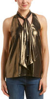 Haute Hippie Metallic Halter Top