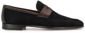 Magnanni Two-Tone Leather Loafers