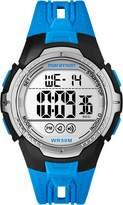 Timex TW5M069009J Men's Marathon Quartz Wrist Watch, Blue Leather Strap