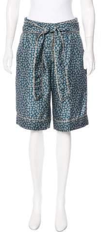 Dolce & Gabbana Printed High-Rise Silk Shorts w/ Tags